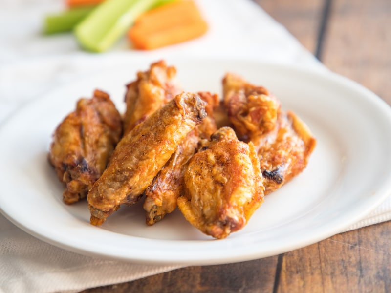 Air Fryer Crispy Dry Rubbed Wings