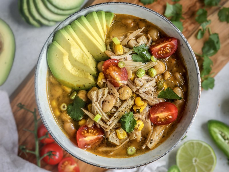 Pressure Cooker Jackfruit and White Bean White Chili