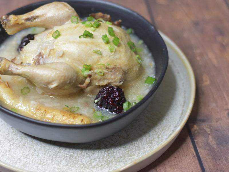 Pressure Cooker Korean Ginseng Chicken Soup (Samgyetang)