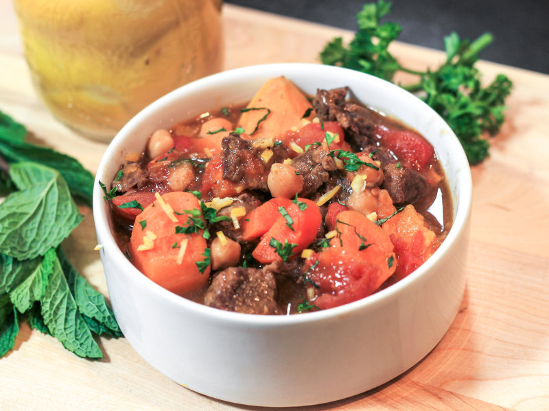 Pressure Cooker Moroccan Lamb and Sweet Potato Stew
