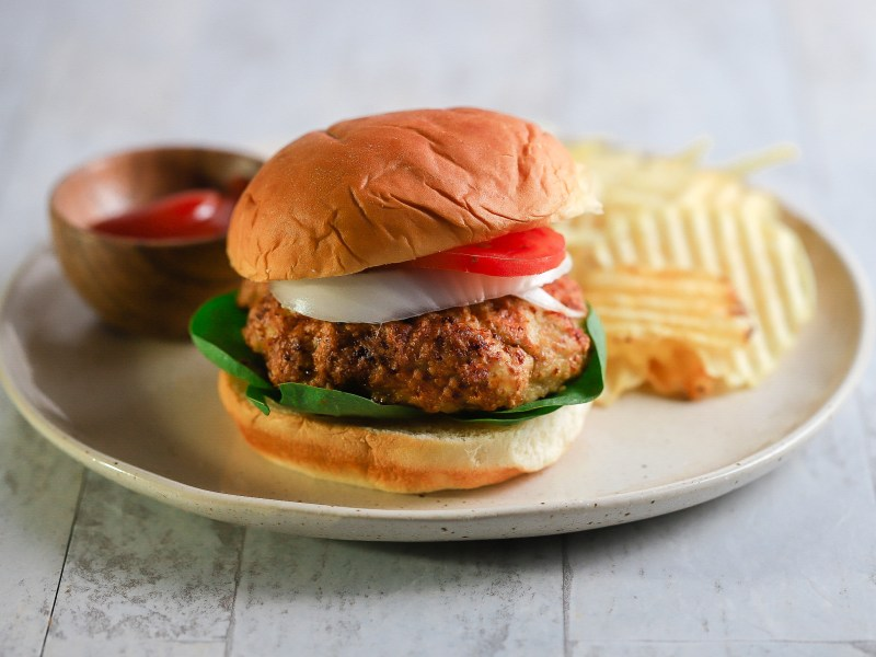 Air Fryer Chicken Burger