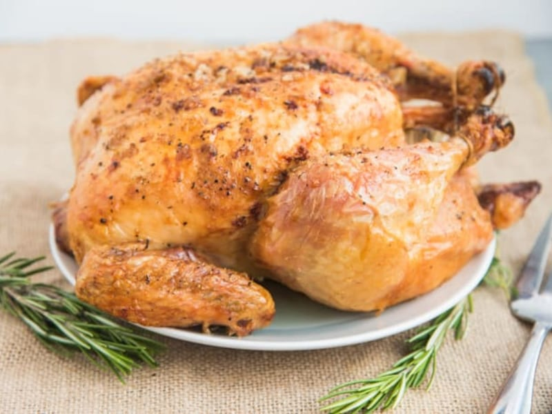 CrispLid Whole Roast Chicken