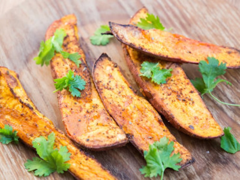 CrispLid Southwestern Sweet Potato Wedges