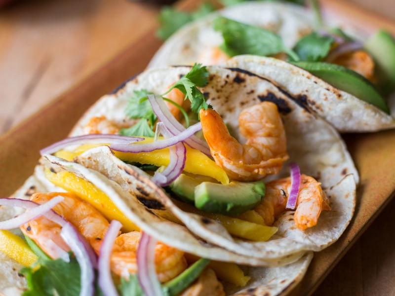 CrispLid Mango Shrimp Tacos