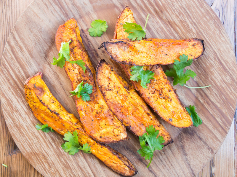 CrispLid Sweet Potato Wedges