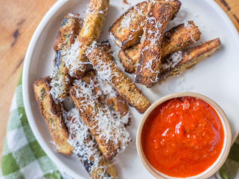 CrispLid Eggplant Parmesan Bites