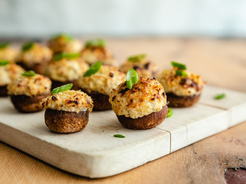 CrispLid Artichoke Stuffed Mushrooms