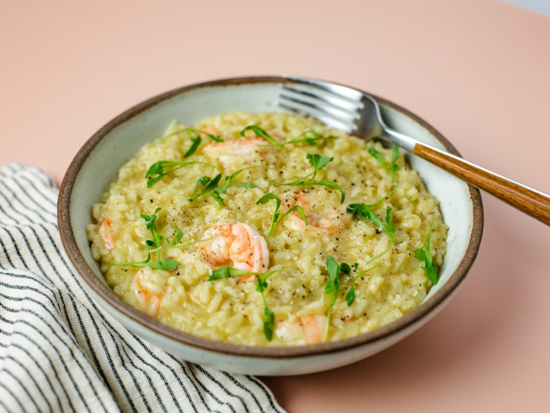 Pressure Cooker Risotto with Shrimp