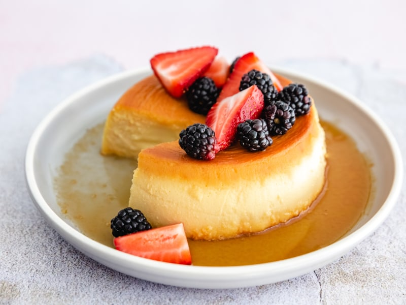Pressure Cooker Cream Cheese Flan Flan De Queso Crema Mealthy Com