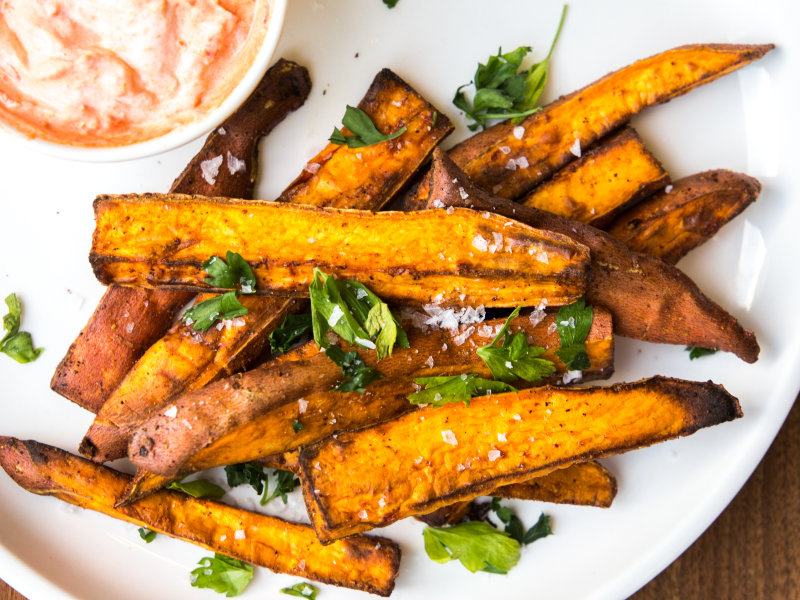 CrispLid Sweet Potato Fries