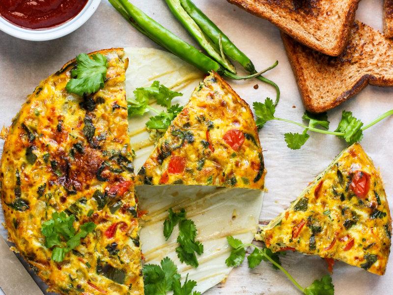 CrispLid Egg Bhurji Frittata