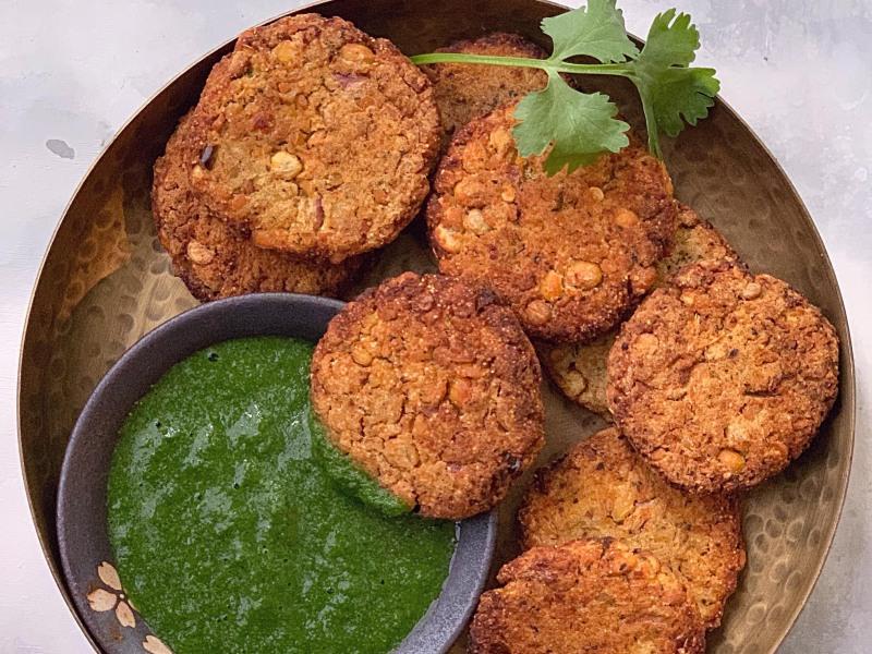 CrispLid Chana Dal Kababs (Chickpea Crisps)