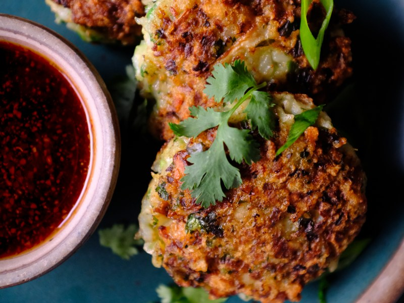 Shrimp Fritters with Soy Dipping Sauce