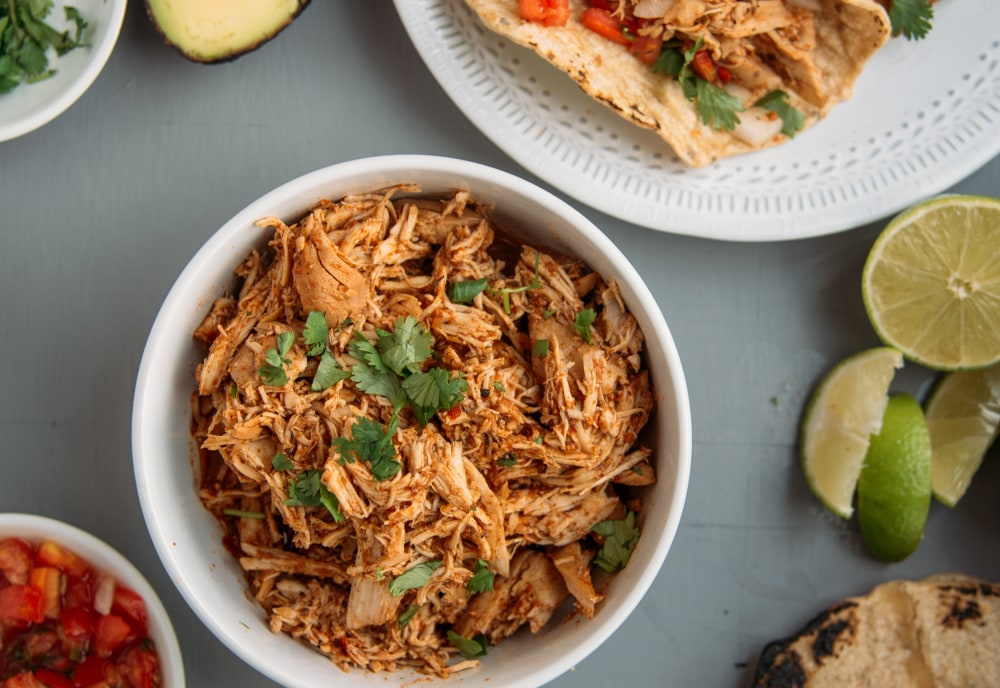 Slow Cooker Pulled Chicken Tacos Mealthy Com