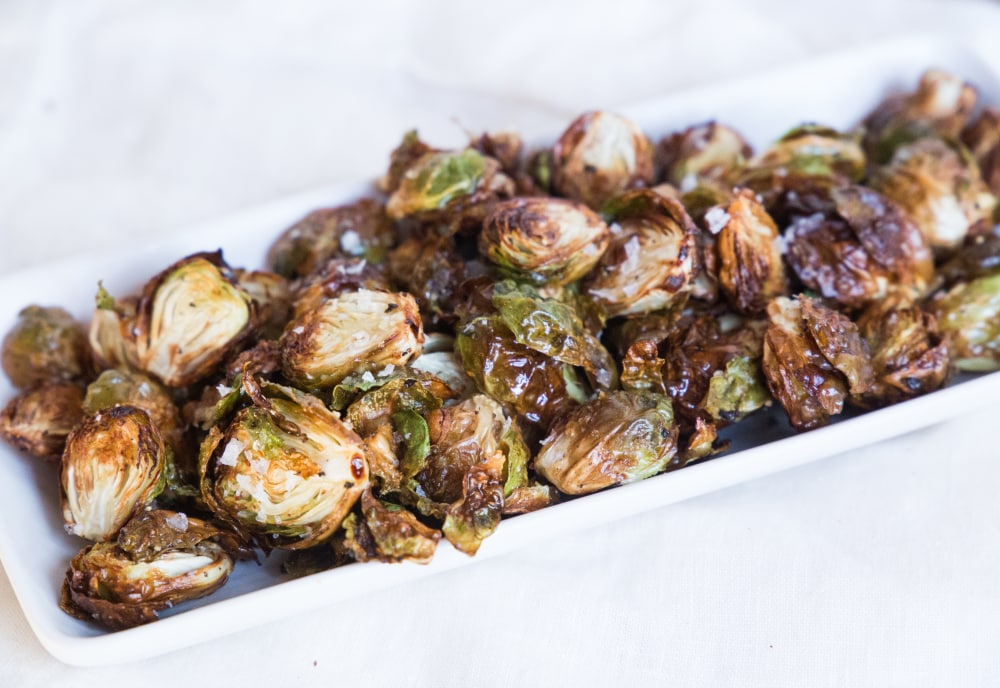 Air Fryer Crispy Brussels Sprouts Mealthy Com