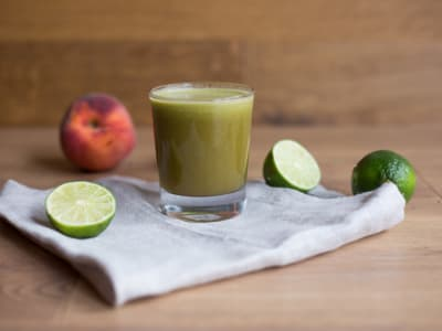 Peach-Basil Juice