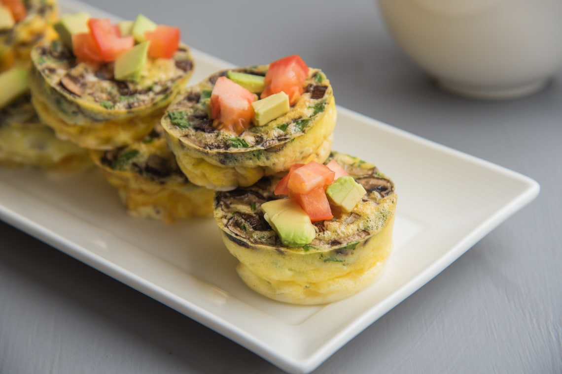 Egg Muffins with Mushrooms and Gruyère Cheese