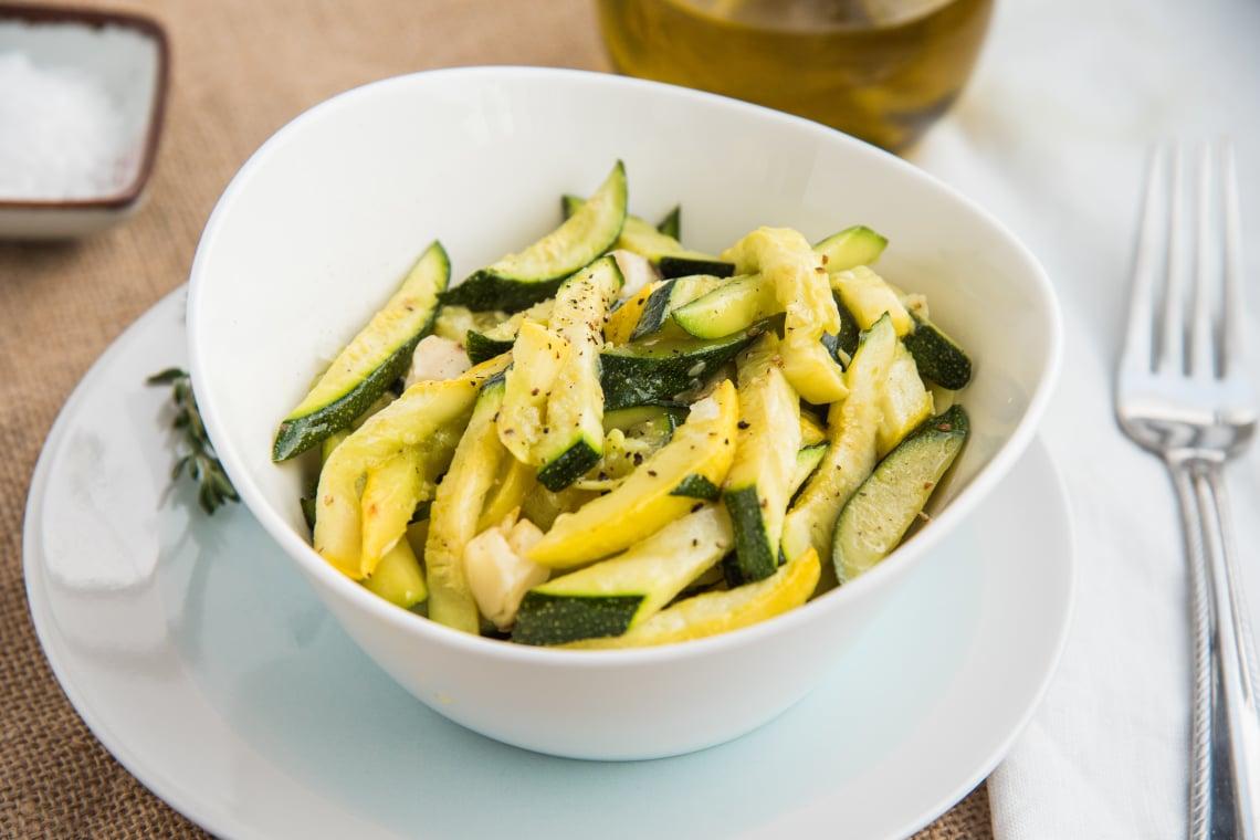Roasted Garlic and Zucchini Medley