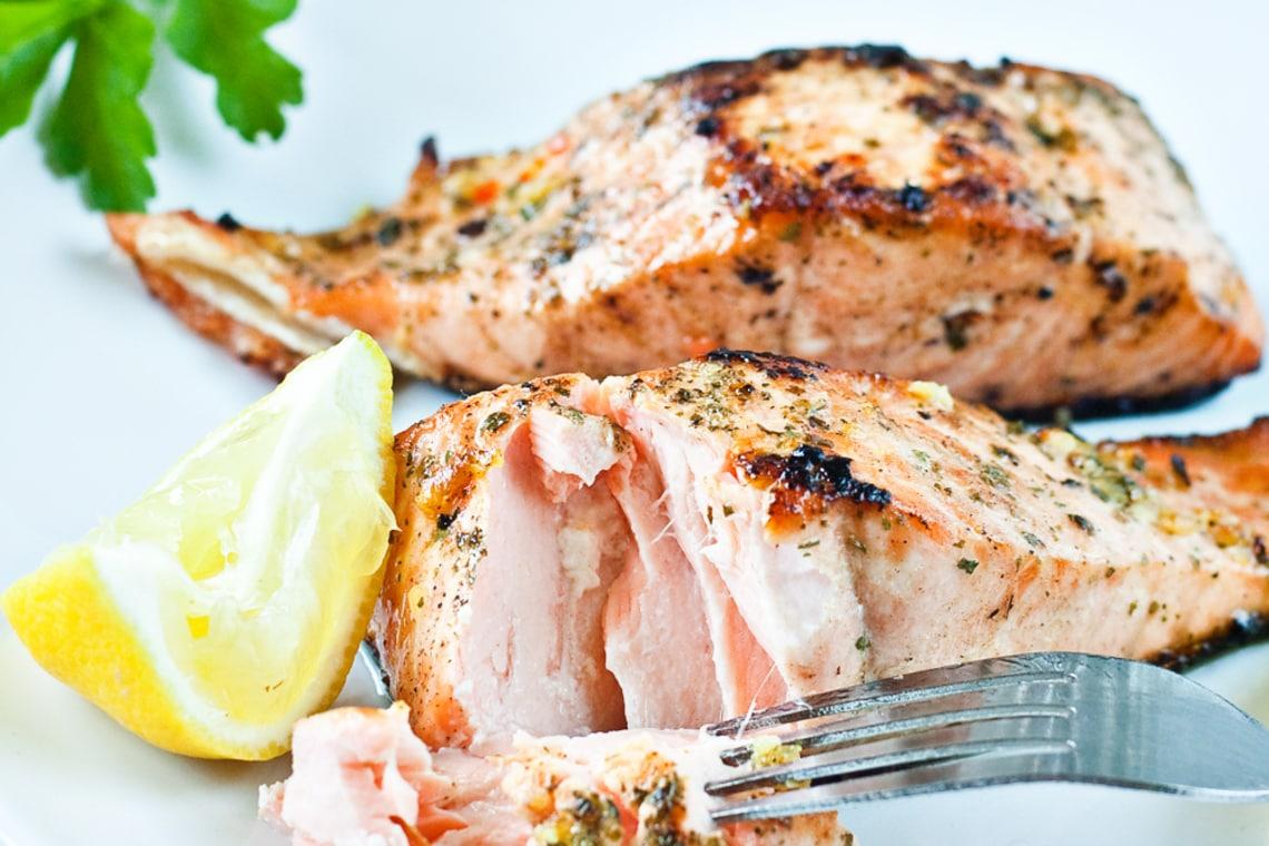 Garlic-Honey Baked Salmon