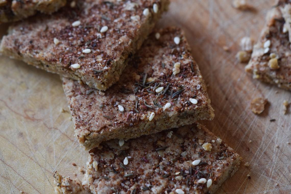 Tahini Za'atar Crackers