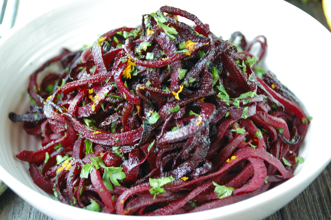 Roasted Balsamic Beet Noodles