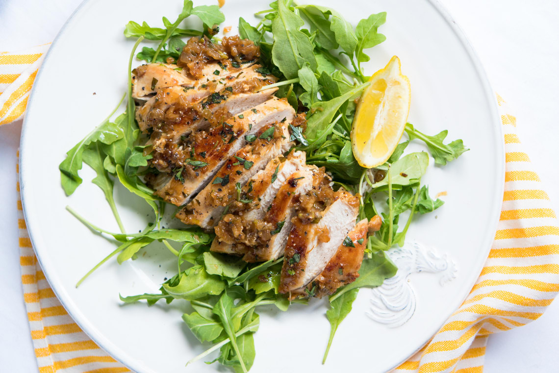 Quick Pan-Fried Tarragon Chicken