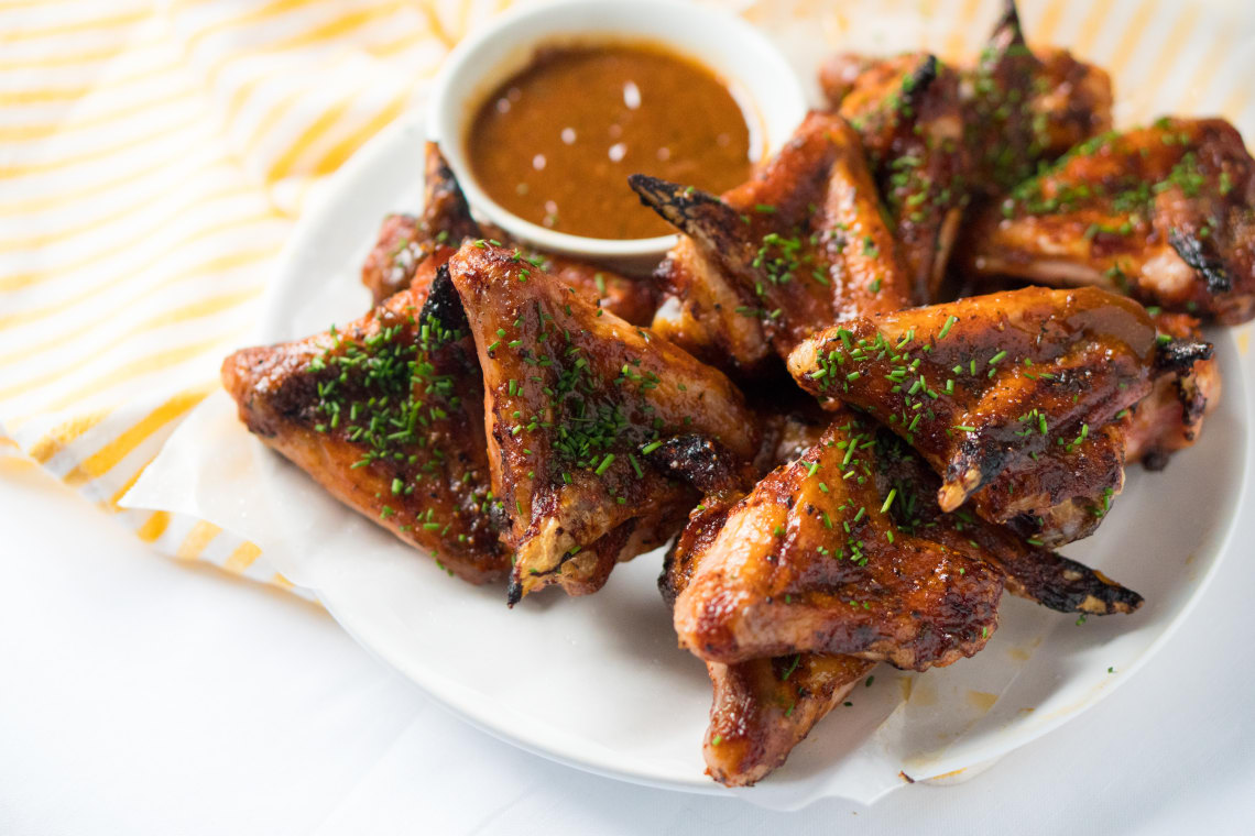 Roasted Honey Barbeque Chicken Wings Culsi Com