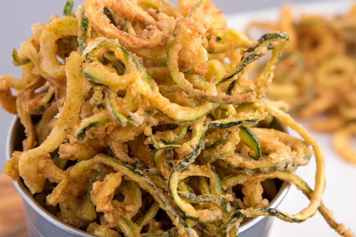 Spiralized Zucchini Curly Fries