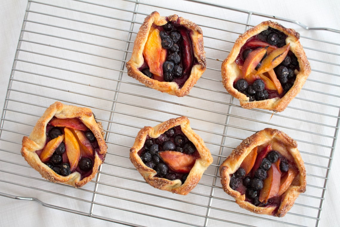 Blueberry and Nectarine Crostadas