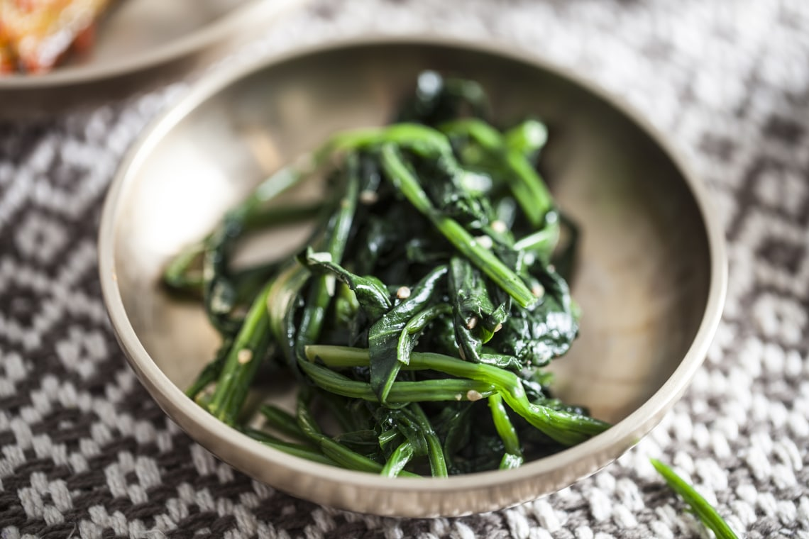 Korean Spinach Banchan Side Dish