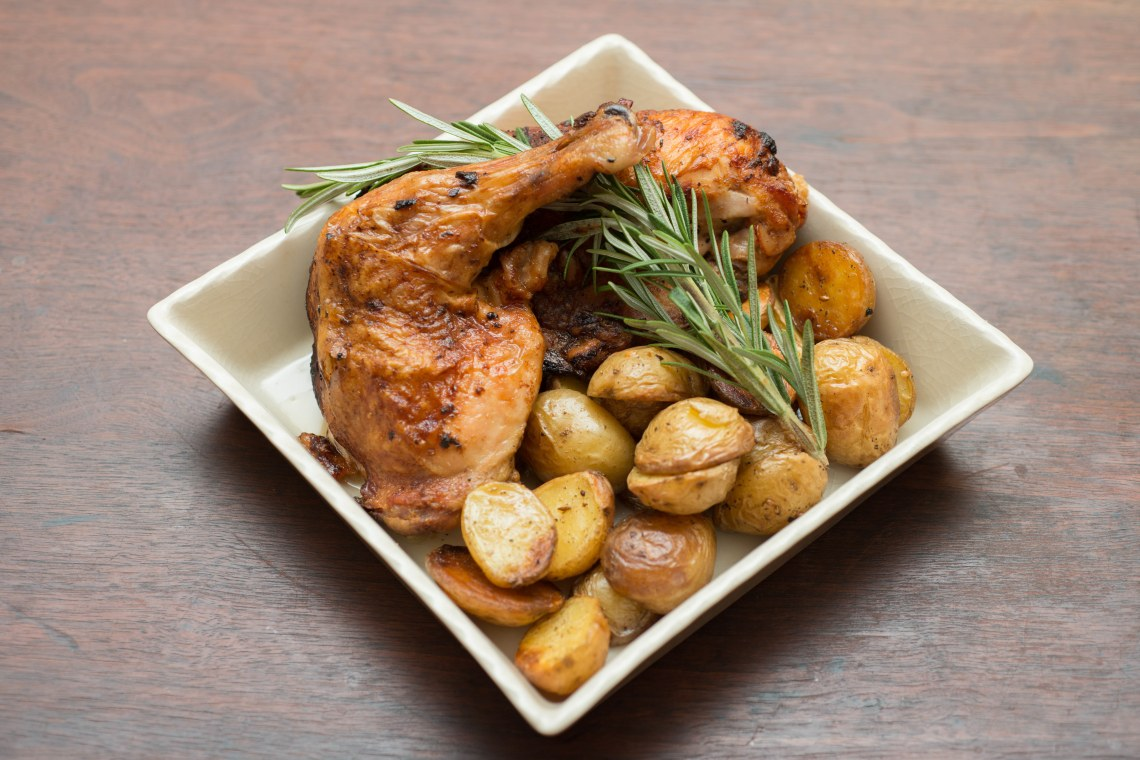 Roast Chicken with Za'atar Rosemary Potatoes