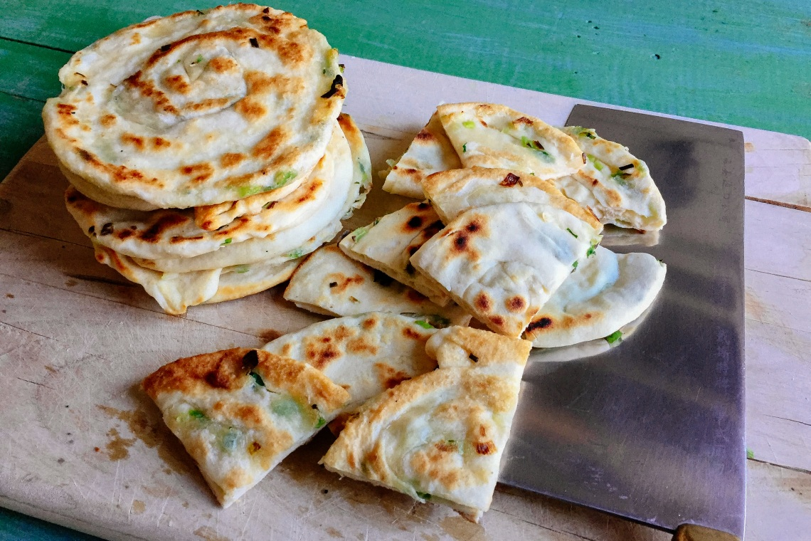 Scallion Sesame Flatbreads
