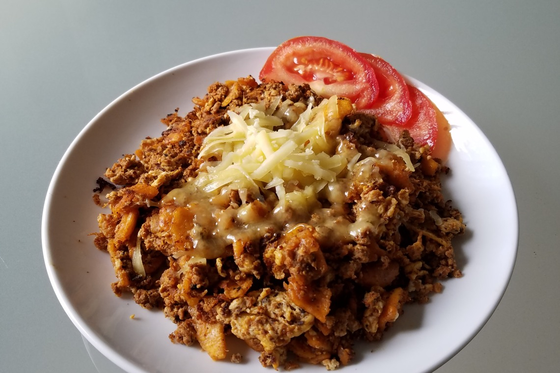 Chilaquiles with Turkey Chorizo