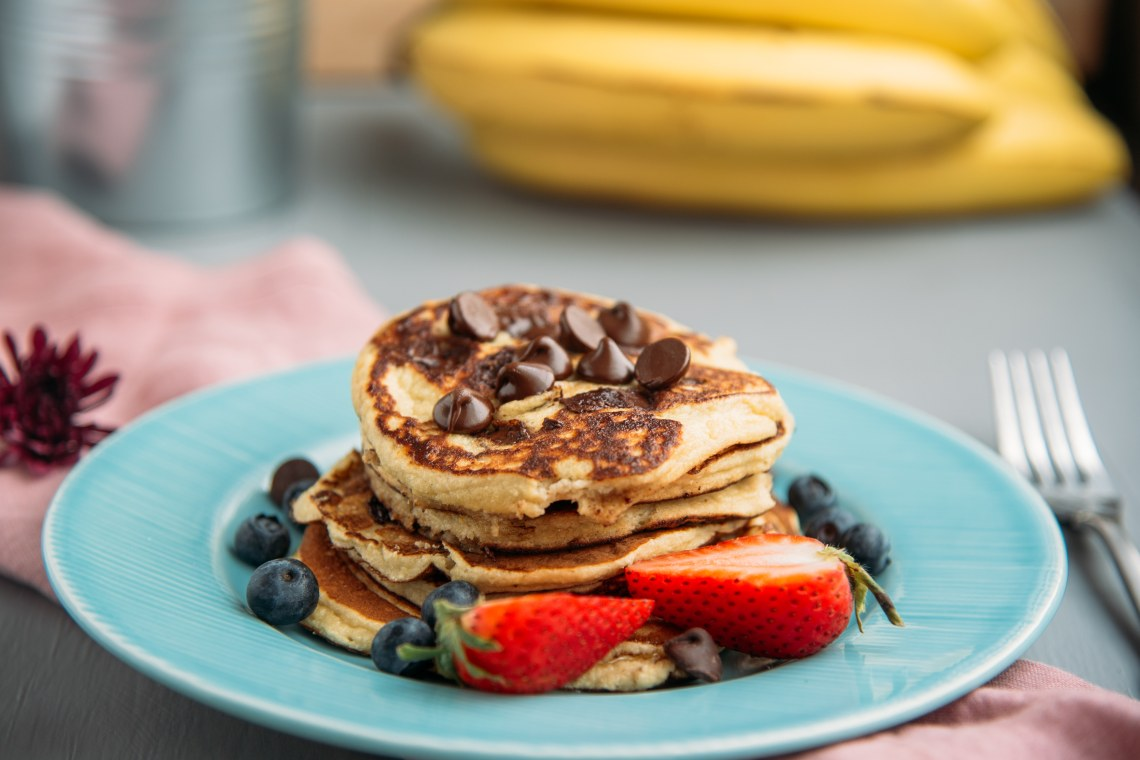 Banana and Chocolate Protein Pancake