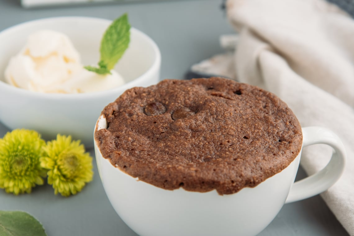 Gluten-Free Chocolate Cake In A Mug