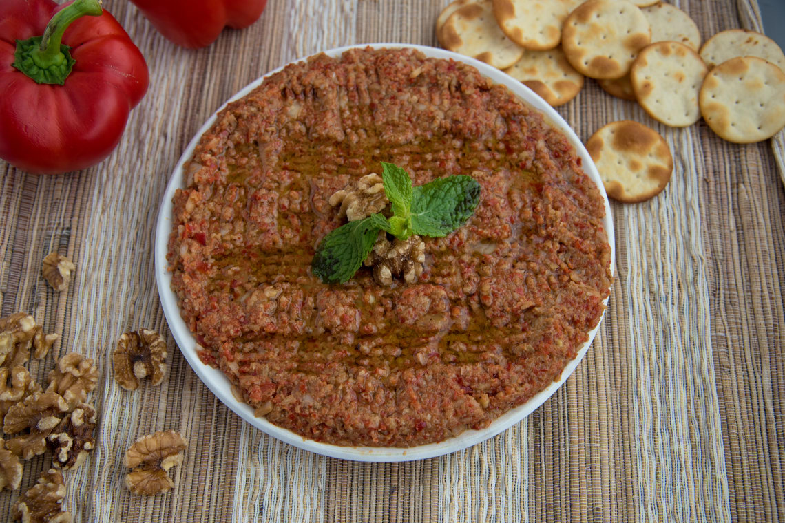 Syrian Muhammara (Red Pepper & Walnut Spread)