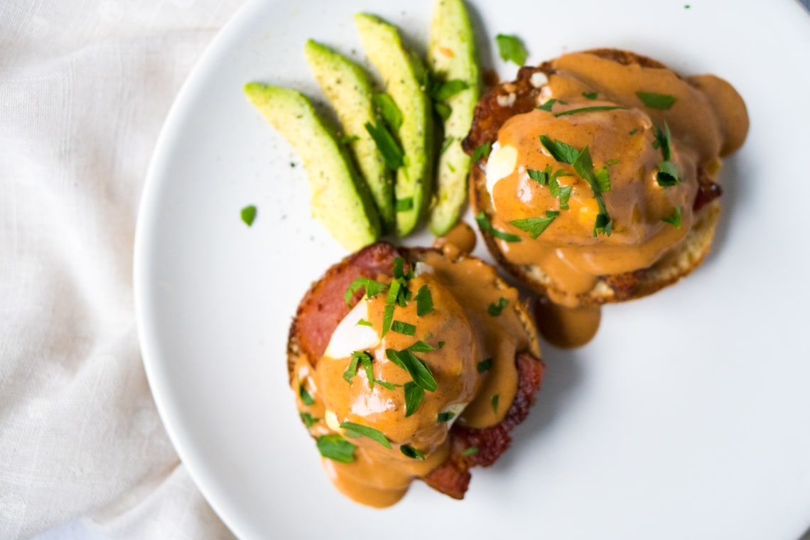 Mexican Eggs Benedict With Chipotle