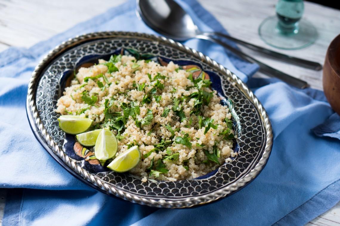 Pressure Cooker Cilantro-Lime Quinoa