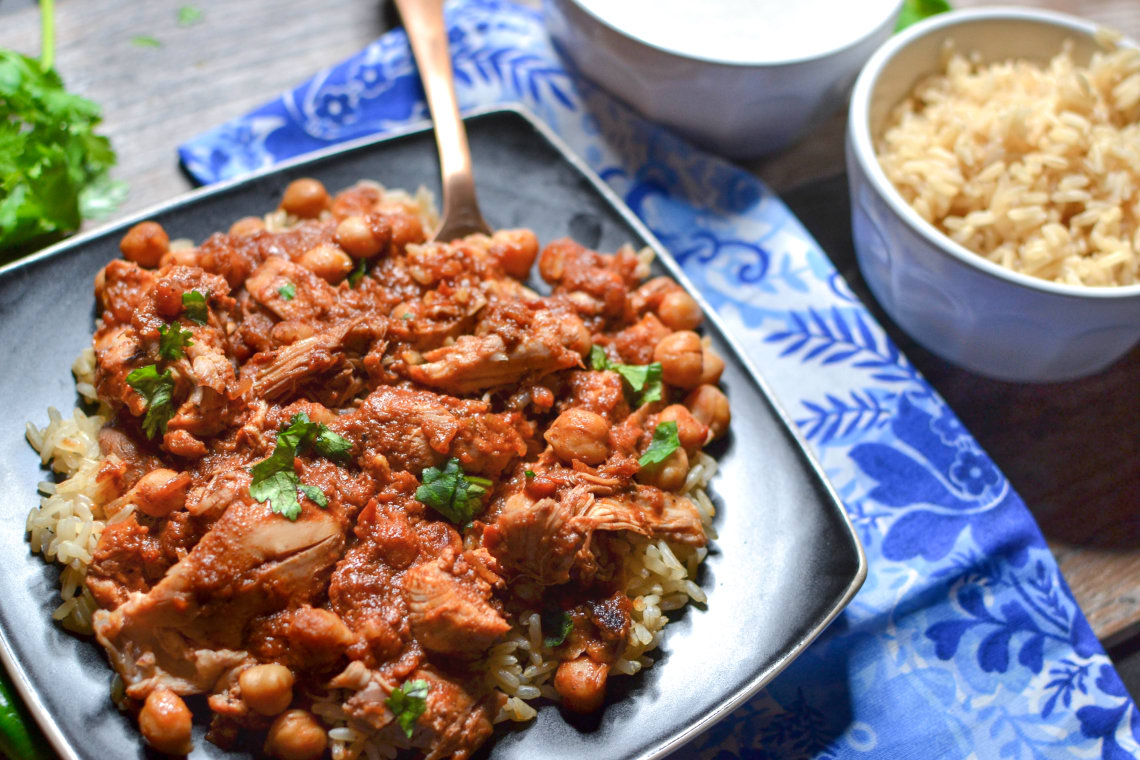 Pressure Cooker Chicken and Chickpea Masala