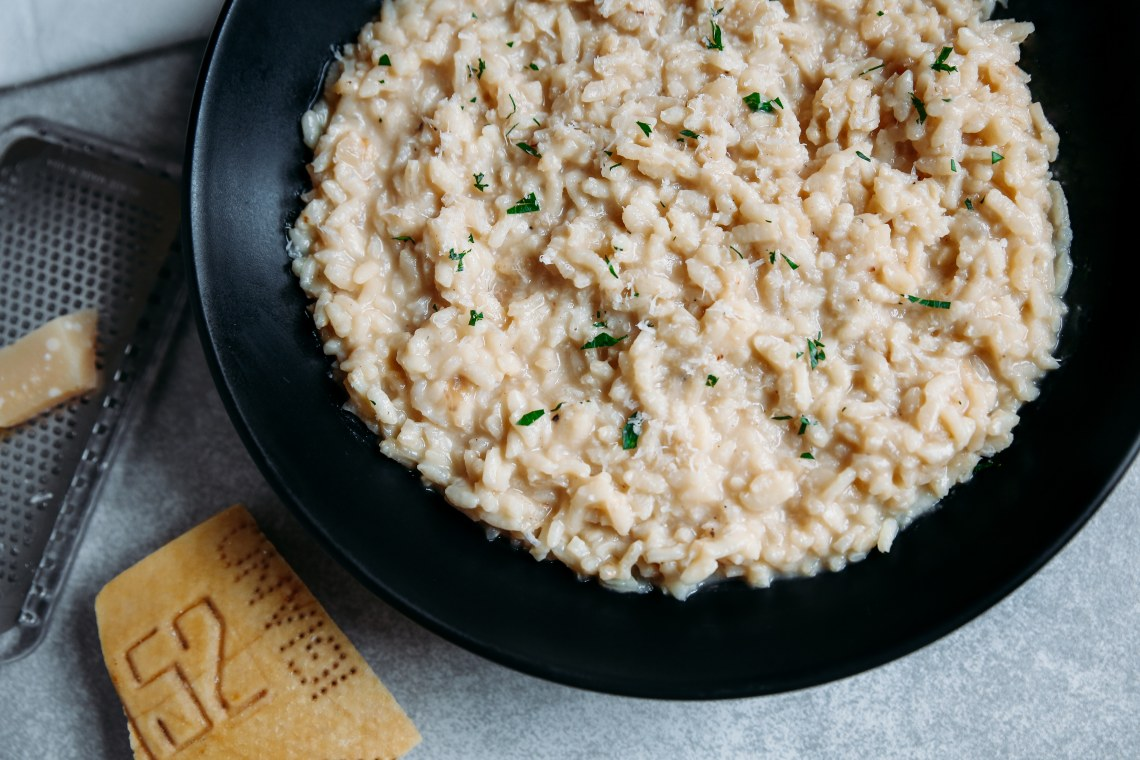 Pressure Cooker Creamy Parmesan Risotto