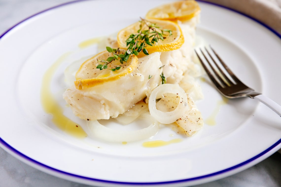 Pressure Cooker Steamed Lemon-Herb Fish