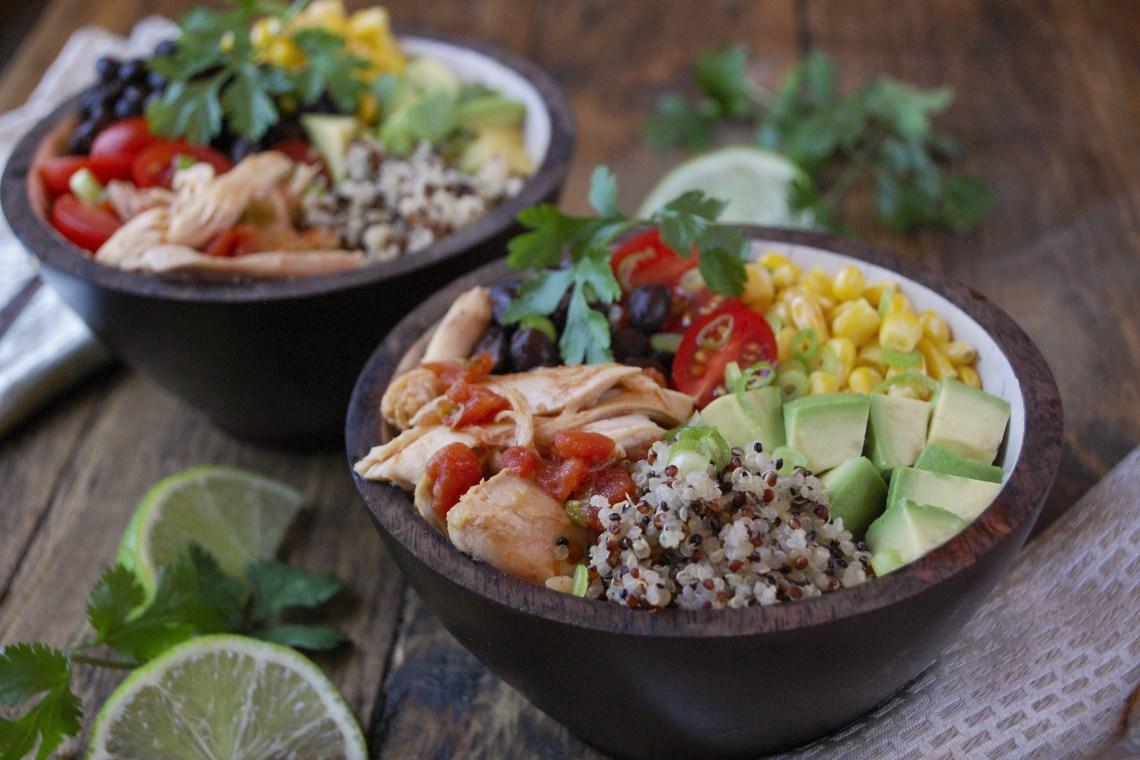 Pressure Cooker Chipotle Chicken and Quinoa Bowls