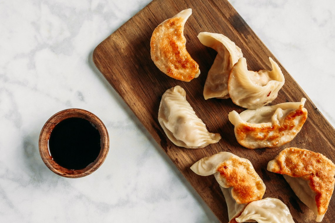 Shrimp and Chinese Broccoli Potstickers