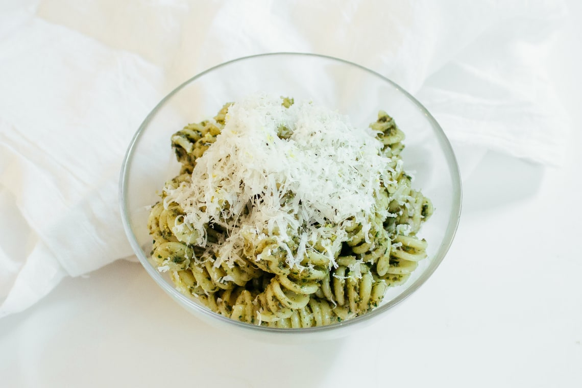 Crunchy Carrot Top Pesto
