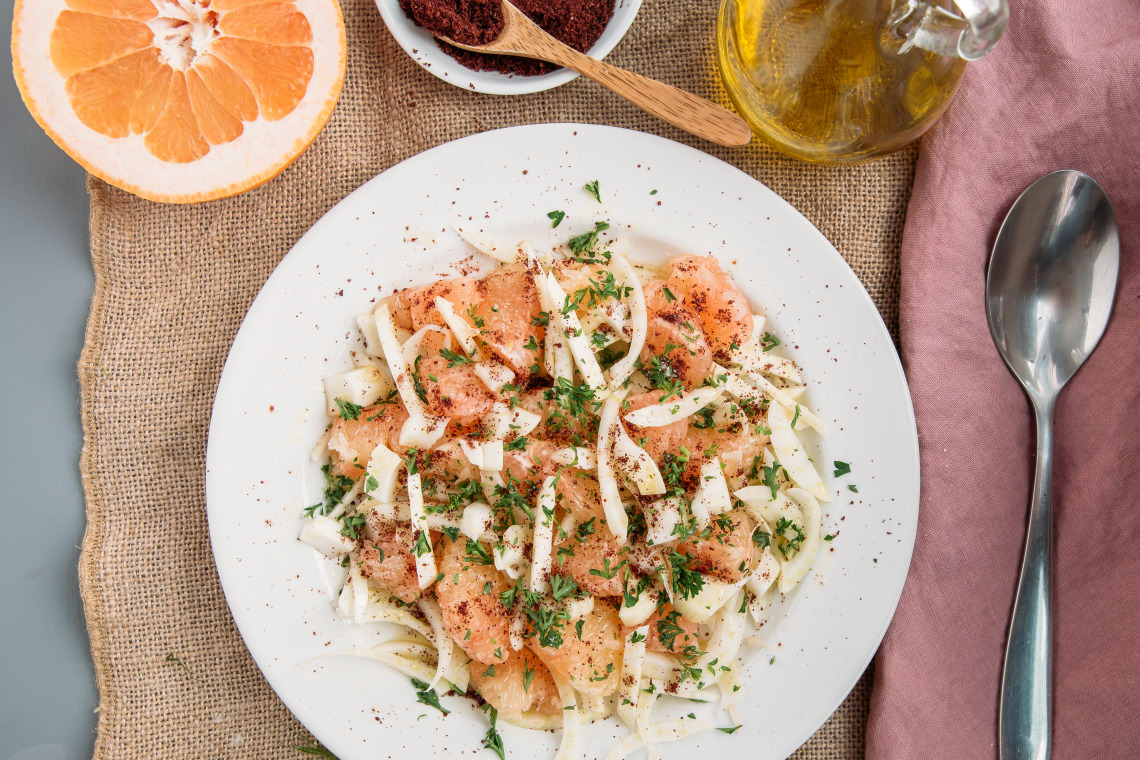 Grapefruit and Fennel Salad with Sumac Lemon Dressing