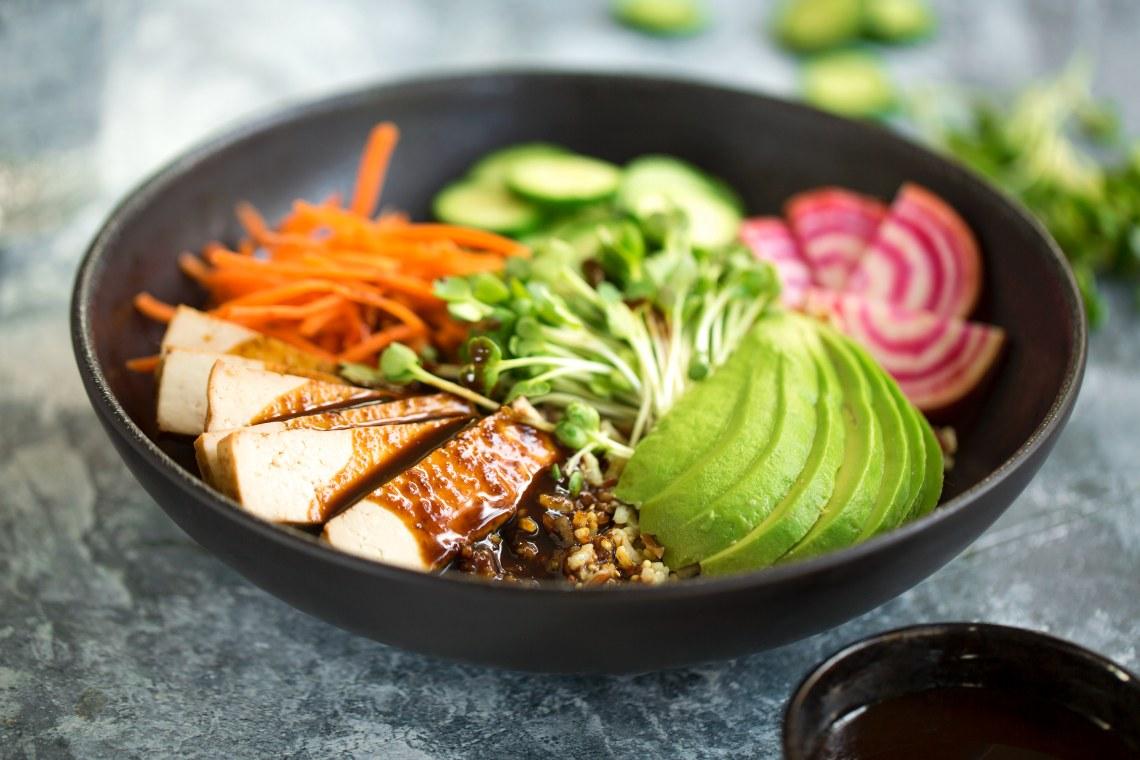 Smoked Tofu And Vegetable Multigrain Bowls Mealthy Com