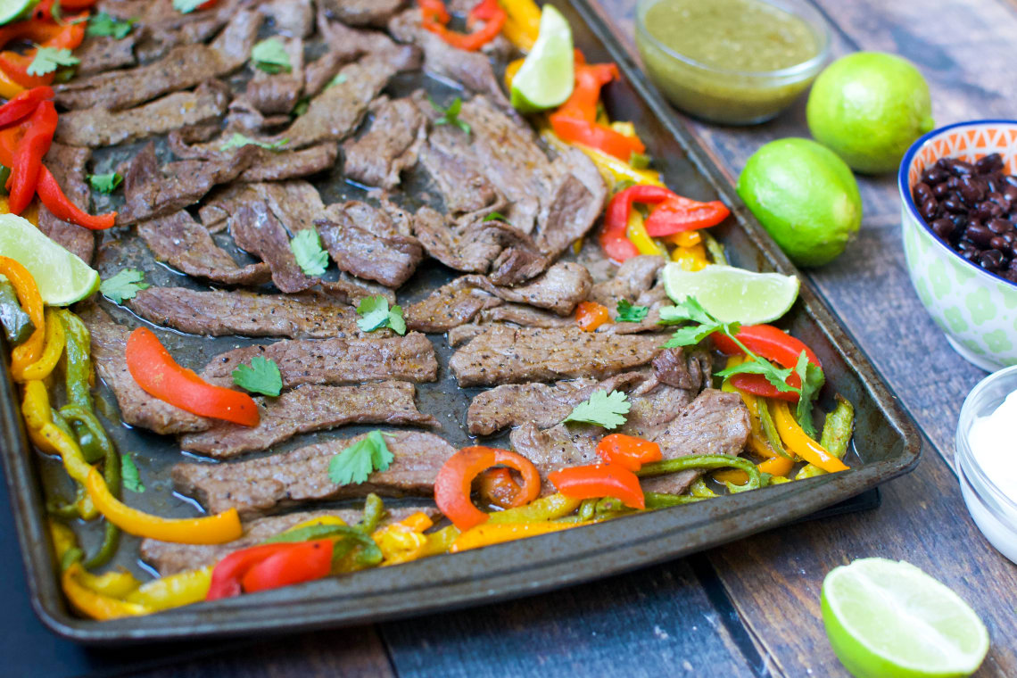Meal Prep: Sheet Pan Steak Fajitas