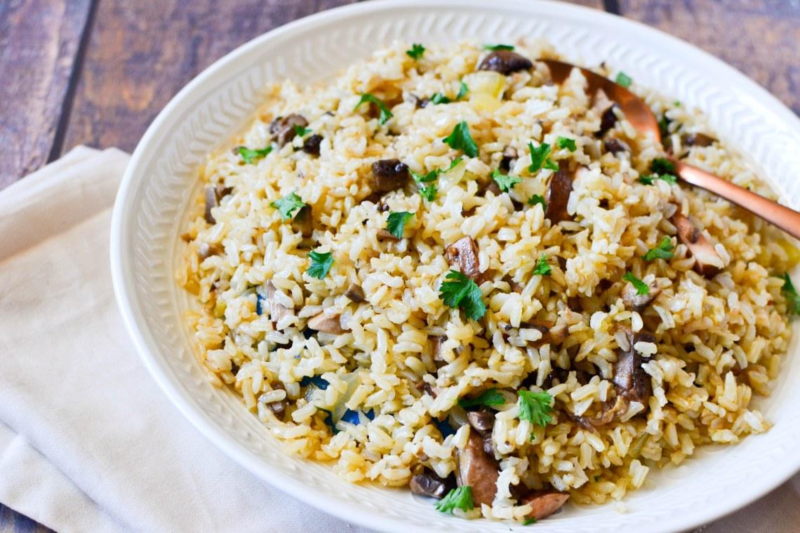 Mushroom Rice Pilaf Mealthy Com