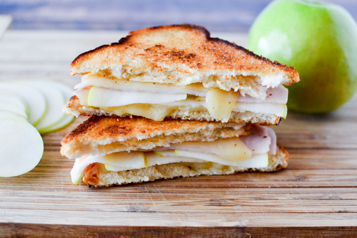 Turkey, Apple, and Swiss Grilled Cheese Sandwiches