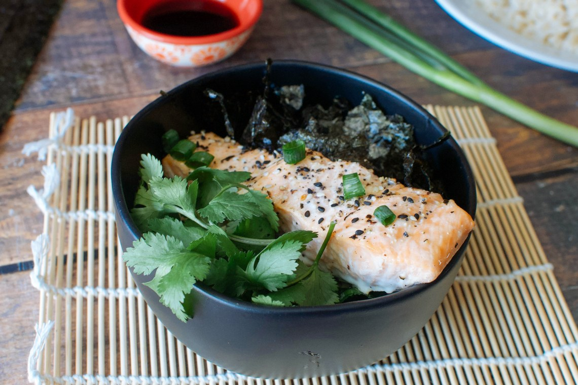 Salmon Buddha Bowls with Soy Vinaigrette